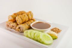 Culinária de Vietname no fundo branco fotografia de stock