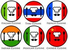 Culinária do mundo Imagem de Stock Royalty Free