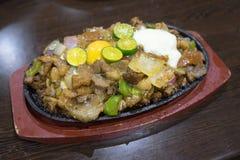 Culinária filipino Sisig Fotografia de Stock