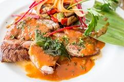 Culinária francesa excelente Fotos de Stock Royalty Free