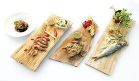 Culinária fresca saudável dos pratos do alimento delicioso Fotos de Stock Royalty Free