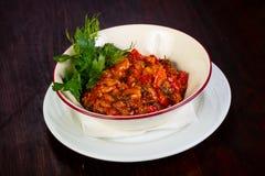 Culinária Georgian - ajapsandali Fotografia de Stock