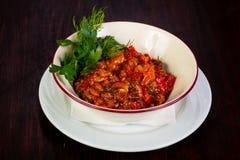 Culinária Georgian - ajapsandali Imagem de Stock