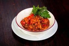 Culinária Georgian - ajapsandali Imagens de Stock
