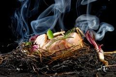 Culinária Haute, costoletas do cordeiro Fotografia de Stock