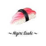 Culinária japonesa, ícone tradicional do alimento Ilustração isolada perfeita do pixel Fotografia de Stock
