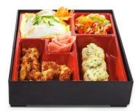 Culinária japonesa - almoço de Bento Fotografia de Stock Royalty Free