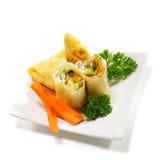 Culinária japonesa - aperitivos dos peixes Foto de Stock