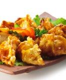 Culinária japonesa - bolinhos de massa da carne fotos de stock