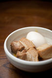 Culinária japonesa, carne de porco Kakuni Imagem de Stock
