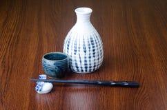 Culinária japonesa causa no fundo Imagens de Stock Royalty Free
