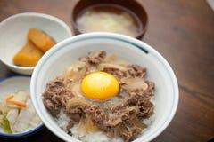 A culinária japonesa GyÅ ?don Imagens de Stock Royalty Free