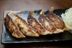 Culinária japonesa GyÅza ou Potstickers Foto de Stock Royalty Free