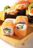 Culinária japonesa - jogo do sushi Fotografia de Stock
