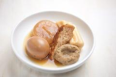 Culinária japonesa Oden e causa Fotografia de Stock Royalty Free