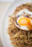 Culinária japonesa Yakisoba Fotos de Stock Royalty Free