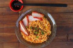 Culinária local Kolo Mee em Kuching, Sarawak, Malásia - série 2 Fotos de Stock Royalty Free