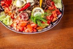 Culinária oriental do Uzbeque tradicional Pilau de Samarkand da carne de carneiro fotos de stock royalty free