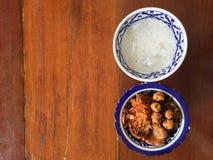 Culinária real tailandesa Fotografia de Stock