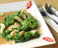Culinária saudável dos bróculos Foto de Stock Royalty Free