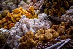 A culinária siciliano é considerada frequentemente a especialidade a mais rica em Itália imagem de stock