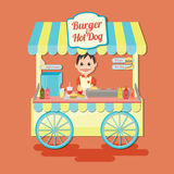 Culinária tailandesa Vara de Tom Yum Kung e da manga Imagens de Stock