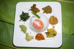 A culinária 8 Vorta de Bangla e o vaji surram a bandeja Fotos de Stock