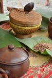 Culinário tradicional indonésio foto de stock