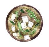 Culin?ria japonesa - sopa de Miso ilustração royalty free