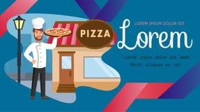 Culinair de Banner Vectormalplaatje van het Cursussen Vlak Web vector illustratie