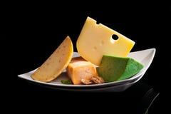 Culinaire kaasvariatie royalty-vrije stock foto's