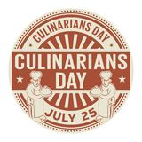 Culinarians Day,  July 25. Rubber stamp, vector Illustration Royalty Free Stock Photo