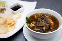 Culinario asiático de la sopa de rabo de buey de la carne de vaca Imágenes de archivo libres de regalías