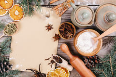 Culinary background Stock Images