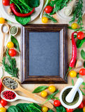Culinary backround vertical Royalty Free Stock Photography