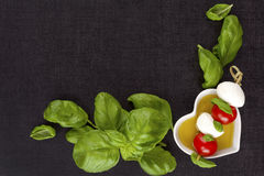 Culinary caprese background. Royalty Free Stock Photography