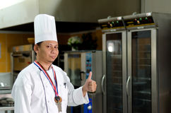 Culinary Chef. With Good symbol Royalty Free Stock Image