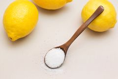 Culinary and chemistry. Image of citric acid Stock Photos