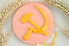 Culinary emblem of the USSR. In the form of edible food Stock Image