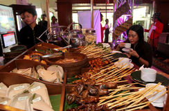 Culinary festival. Traditional food served during the culinary festival in the city of Solo, Central Java, Indonesia Stock Photography