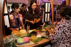 Culinary festival. Traditional food served at a hotel during a culinary festival in the city of Solo, Central Java, Indonesia Royalty Free Stock Images