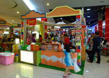 Culinary festival. Various foods sold in the culinary festival at a mall in the city of Solo, Central Java, Indonesia Stock Photo