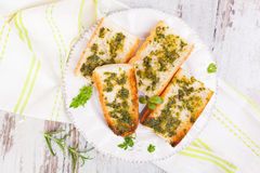 Culinary garlic baguette. Stock Images
