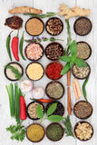 Culinary Herbs and Spices Royalty Free Stock Photography