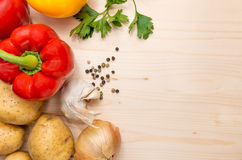 Culinary ingredients background Royalty Free Stock Photos