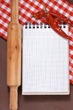 Culinary notebook. Stock Photography