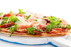 Culinary pizza eating. Stock Photo