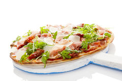 Culinary pizza eating. Stock Photos