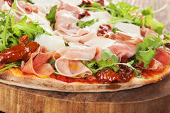 Culinary pizza eating. Stock Images