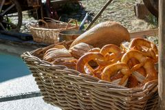 Culinary products from the market stock photo